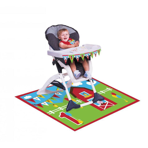FARMHOUSE BIRTHDAY HIGH CHAIR KIT 2PCS