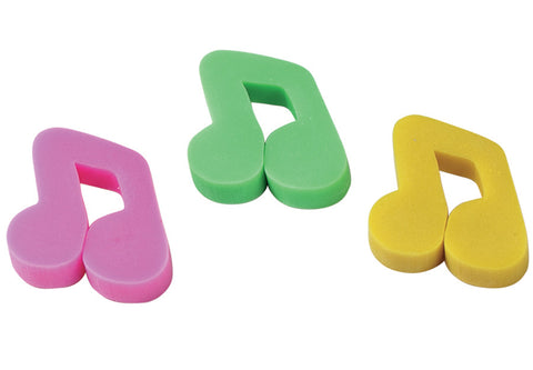 MUSICAL NOTE ERASERS