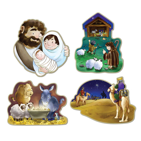 "CUTOUT - NATIVITY          16""     4 CT/PKG"