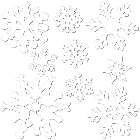 SNOWFLAKE CUTOUTS  9PCS ASSORTED SIZES