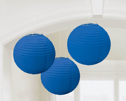 "ROYAL BLUE PAPER LANTERNS 9.5""             3 CT/PK"