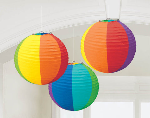 "LANTERN - MULTI COLOR 9.5""             3 CT/PKG"