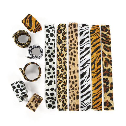BRACELET - ANIMAL PRINT SLAP            12 CT/PKG