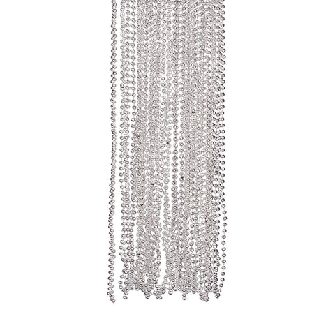 NECKLACE - SILVER METALLIC  BEADS 4 DZ/UNIT