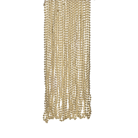 NECKLACE - GOLD METALLIC BEADS           4 DZ/UNIT