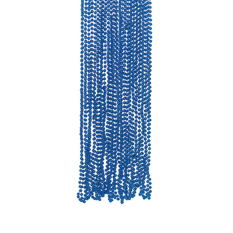 NECKLACE - BLUE METALLIC BEADS  4 DZ/UNIT