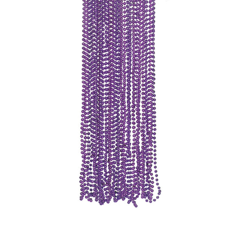 NECKLACE - PURPLE BEADS           4 DZ/UNIT