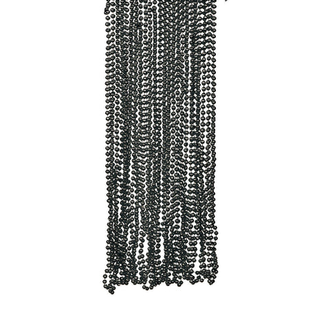 NECKLACE - BLACK METALLIC BEADS 4 DZ/UNIT