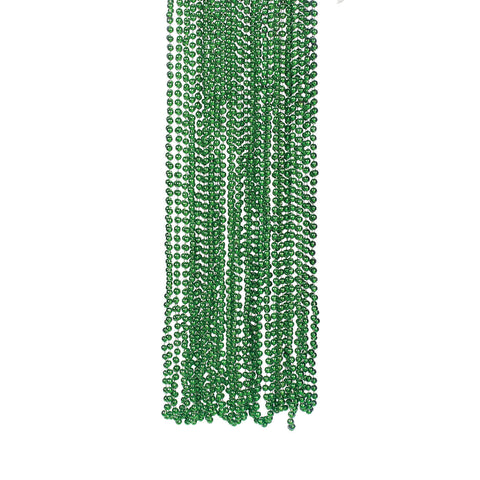 NECKLACE - GREEN METALLIC BEADS 4 DZ/UNIT