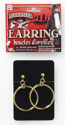 GOLD PIRATE EARRINGS