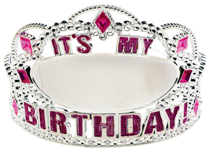 ADD YOUR AGE PINK BIRTHDAY TIARA