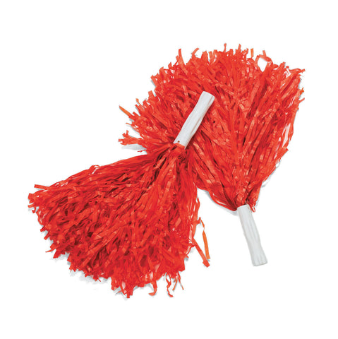POM POMS - RED                 12 CT/PKG