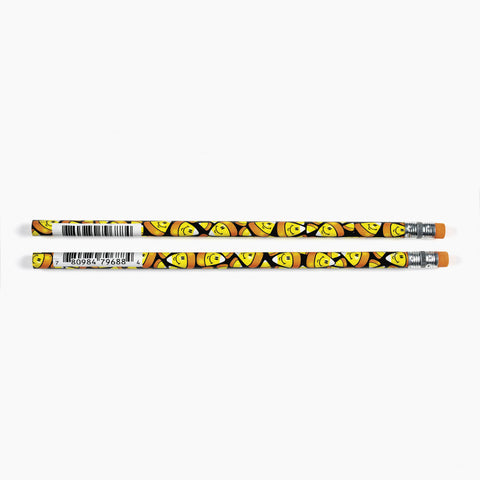PENCIL - SMILE FACE CANDY CORN            12 CT/PK