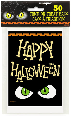 BAG - HALLOWEEN BONES TRICK OR TREAT  50 CT/PKG