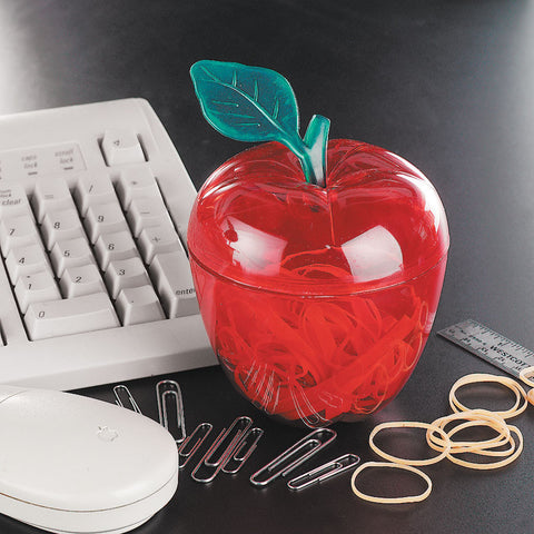 RED APPLE - PLASTIC CONTAINER  12 PC