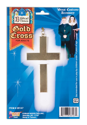 Religious Gold Cross and Chain