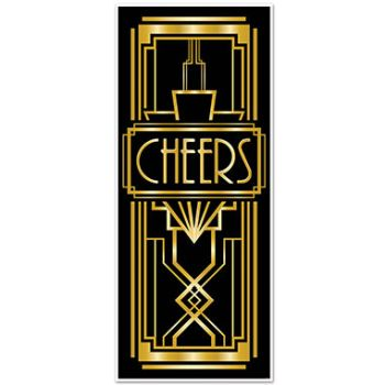 GREAT GATSBY 20'S CHEER DOOR COVER
