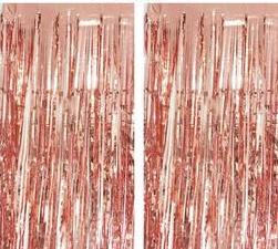 ROSE GOLD METALLIC DOOR CURTAIN