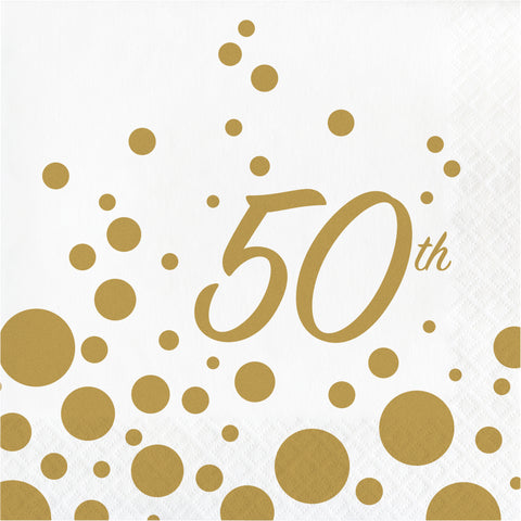 50TH ANNIVERSARY LUNCHEON NAPKINS