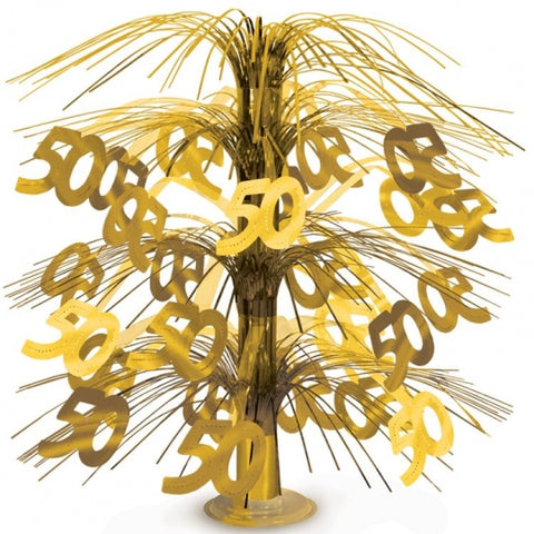 Gold 50th Cascade Centerpiece
