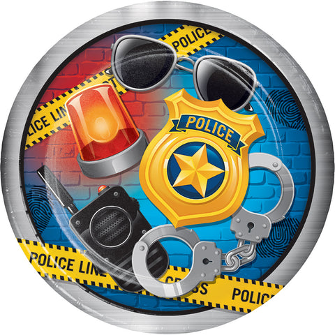 POLICE PARTY PAPER PLATES 9""