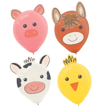 FARM LATEX BALLOONS 6CT