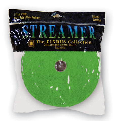 CREPE STREAMER - 500' LT. GREEN