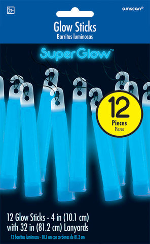 BLUE GLOW STICK NECKLACES 12 PACK