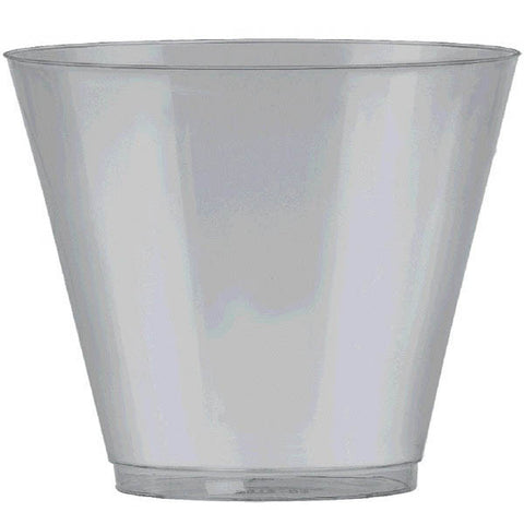 SILVER PLASTIC TUMBLERS