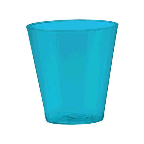 2oz Caribbean Blue Shot Glasses