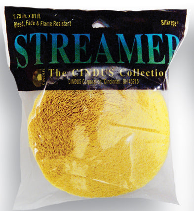 CREPE STREAMER - 81' CANARY YELLOW