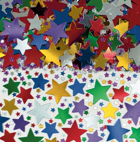 CONFETTI - STARS MULTI COLOR     2.5 OZ
