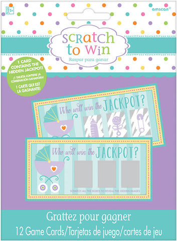 BABY SHOWER SCRATCH OFF TICKETS