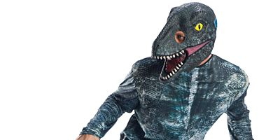 JURASSIC WORLD VELOCIRAPTOR BLUE 3/4 MASK - ADULT