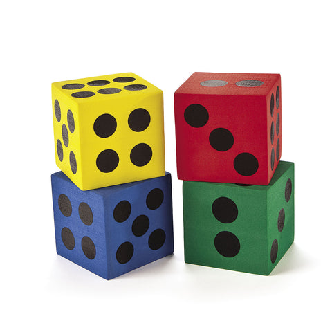 "JUMBO FOAM PLAYING DICE 2.5""  12PCS/UNIT"