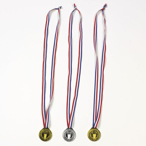 TORCH MEDAL AWARDS W/NECK RIBBONS  12 CT/PKG
