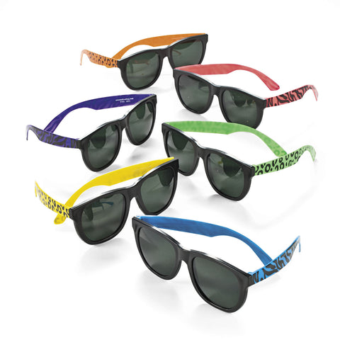 SUNGLASSES - NEON ANIMAL PRINTS          12 CT/PKG