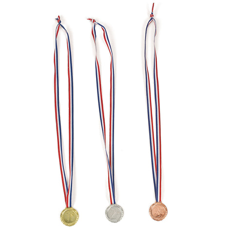AWARD MEDALS 1ST 2ND 3RD PLACES    12PCS/PKG