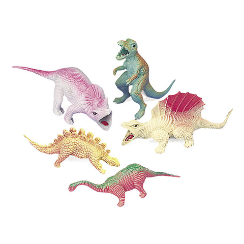 DINOSAUR - VINYL SMALL ASSORT          12 CT/PKG