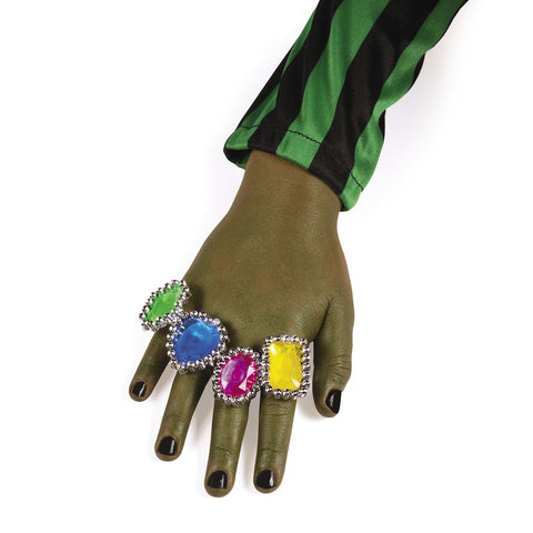 RINGS - RHINESTONE COLORFUL       72 CT/UNIT