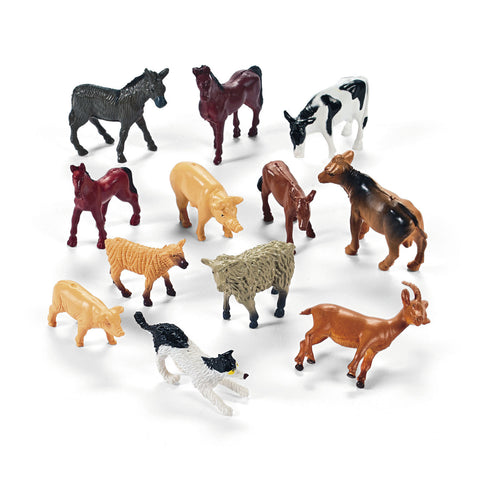 VINYL FARM ANIMALS                 12 CT/PKG