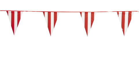 RED  WHITE PENNANT BANNER 100' LONG