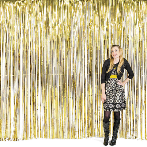 GOLD FRINGE CURTAIN