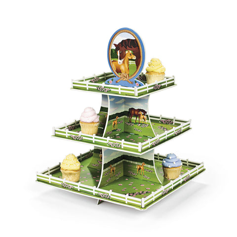 DERBY HORSE CUPCAKE TREE 1PC/PKG