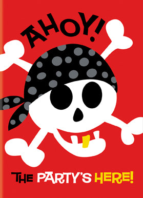 PIRATE FUN INVITATIONS 8PCS/PKG