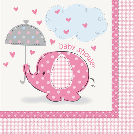 PINK ELEPHANT NAPKINS LUNCHEON  16PCS/PKG