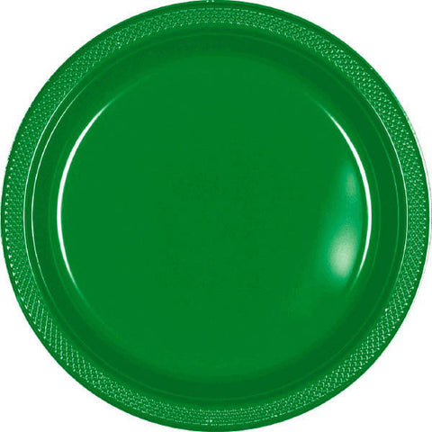 "PLASTIC PLATES - FESTIVE GREEN   7""   20 COUNT"