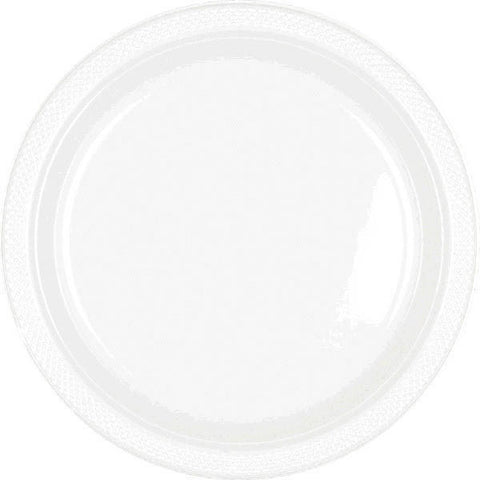 "PLASTIC PLATES - FROSTY WHITE   7""   20 COUNT"