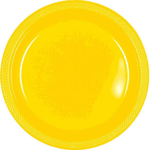 "PLASTIC PLATES - YELLOW SUNSHINE   7""   20 COUNT"
