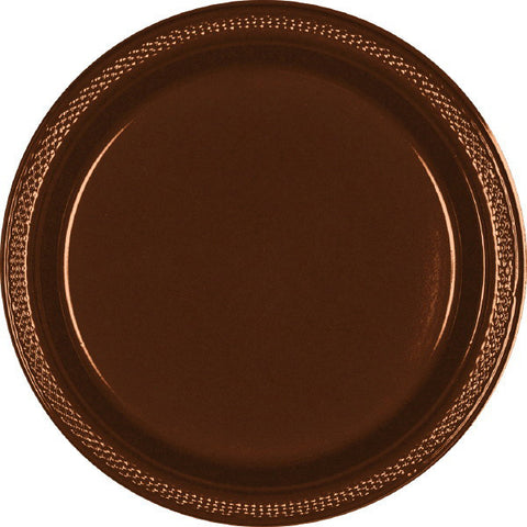 "PLASTIC PLATES - CHOCOLATE BROWN   7""   20 COUNT"